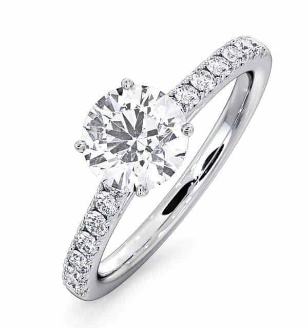 Diamond Side Stone Ring