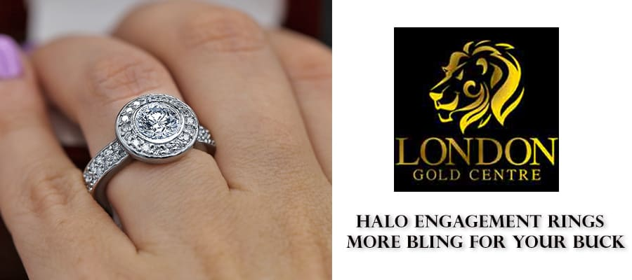 halo-engement-ring Halo Engagement Rings - More Bling for Your Buck