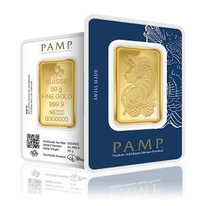 PAMP-Gold-Bar-50g-FrontBack-300x300 sell gold bars in London